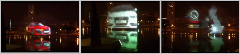Water Screen in Valencia Spain for car manufacturer Audi