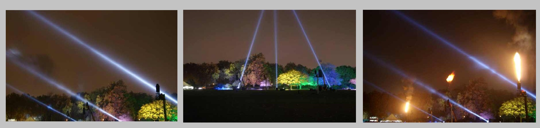 BATTERSEA PARK SEARCH LIGHTS AND FLAME SHOW
