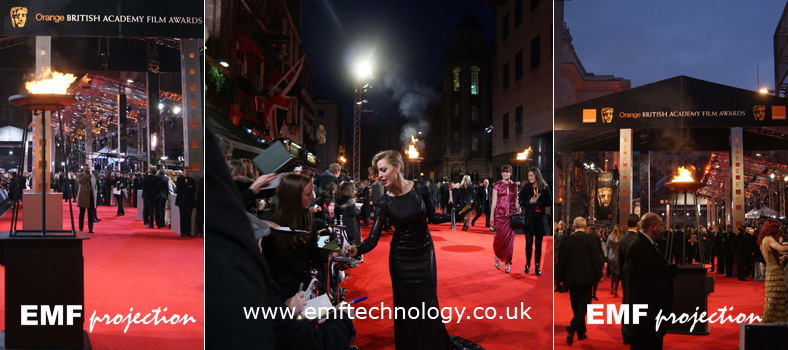 Flame effects Bafta Awards, London