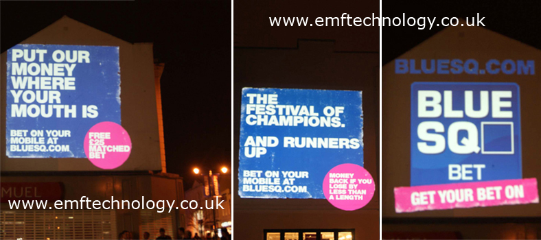 Building projection Cheltenham races