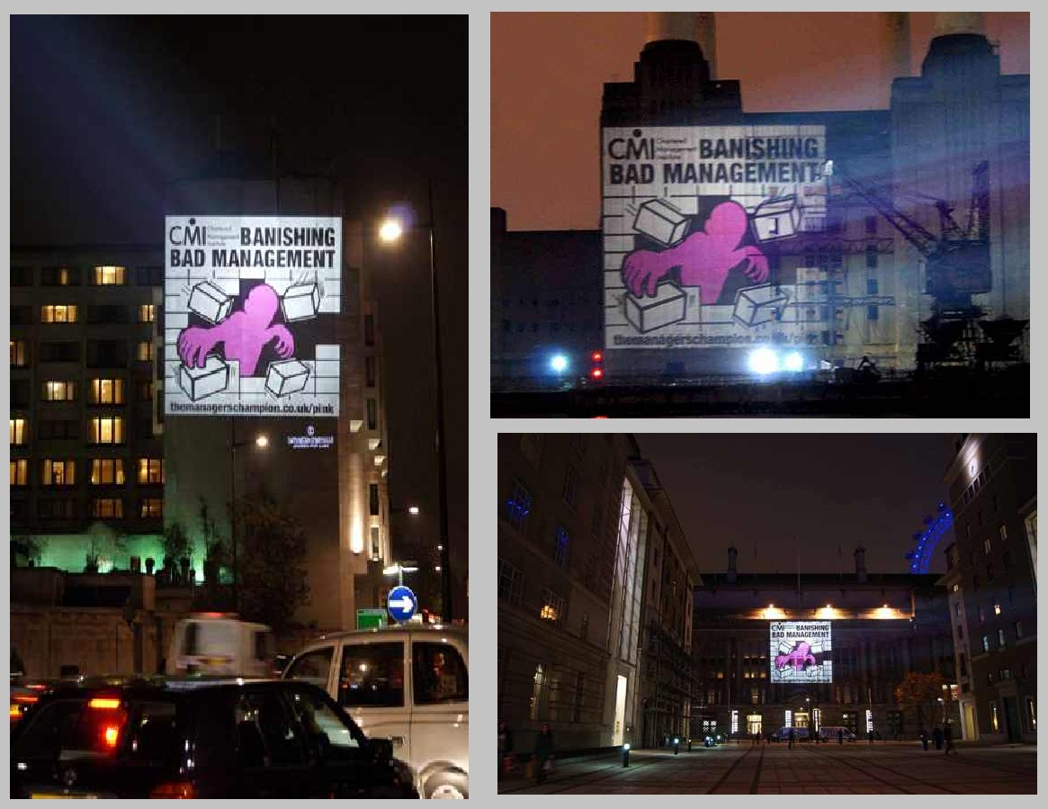 CMI OUTDOOR BUILDING PROJECTION CAMPAIGN LONDON