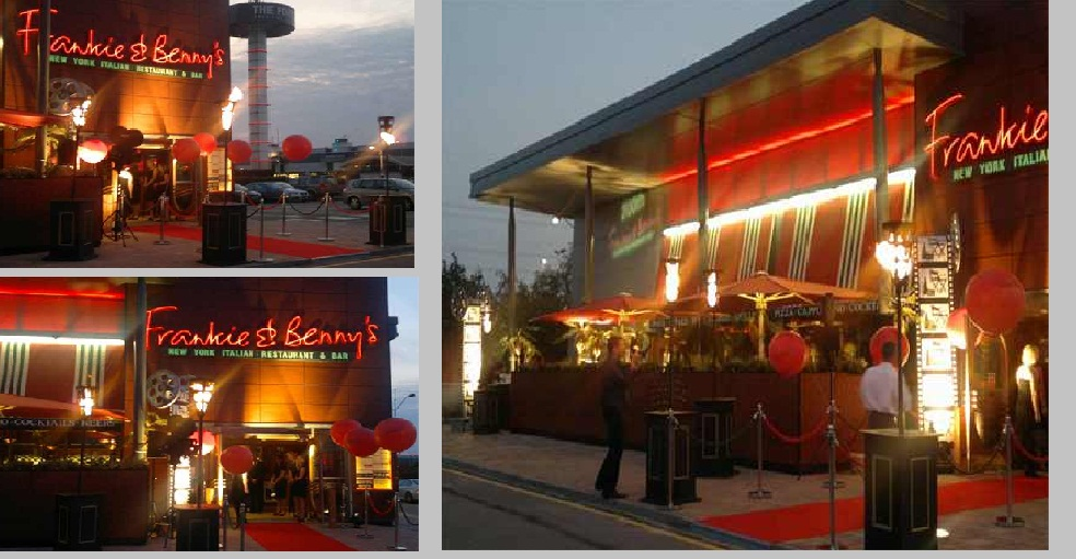 FRANKIE AND BENNIES FLAMBES LAUNCH PARTY