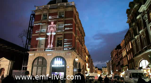 3d Video Mapping Projection Covent Garden