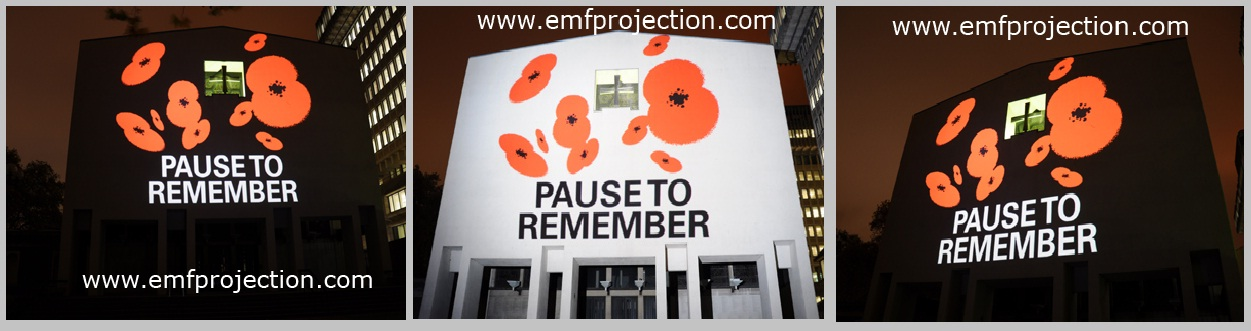POPPY DAY OUTDOOR BUILDING PROJECTIONS