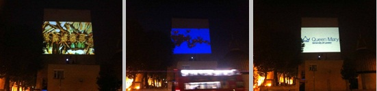 Outdoor Building Projections Queen Mary University