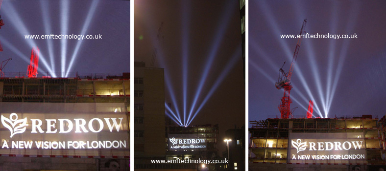 Redrow launch of exclusive London properties with massive outdoor projection and searchlights
