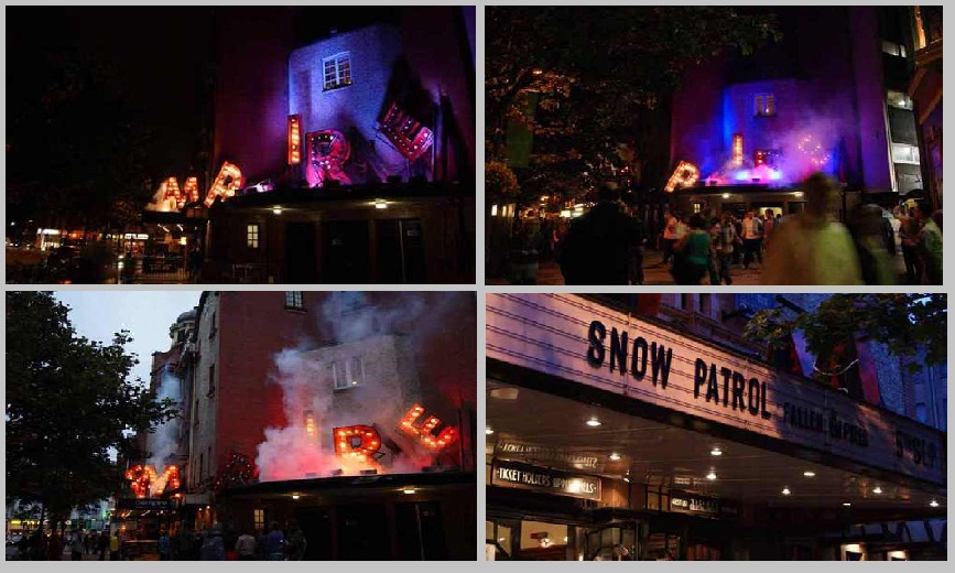 SNOW PATROL SMOKE AND LIGHTING EFFECTS WELCOMES THEIR FANS AT SHEPHERDS BUSH EMPIRE