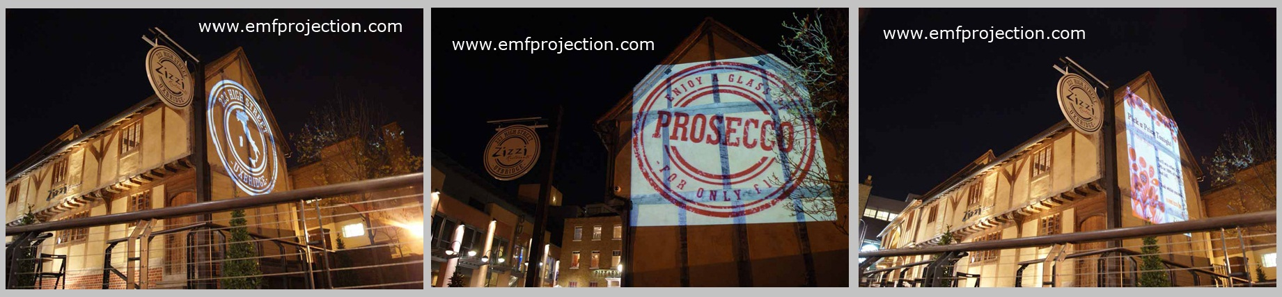 Permanent Outdoor Projection Installation - Zizzi