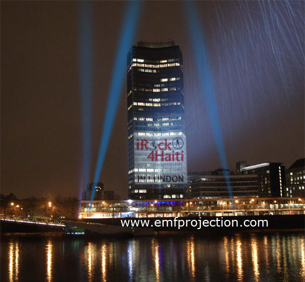 Millbank Tower projection