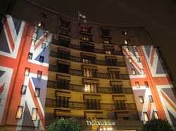 Outdoor building projection