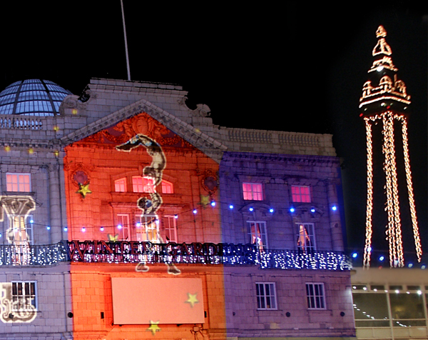 Large scale Building Projections Blackpool