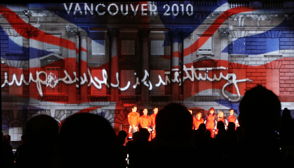 Video Mapping at Somerset House for Team GB
