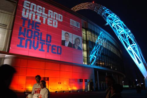 Wembley Stadium Outdoor Building Projection