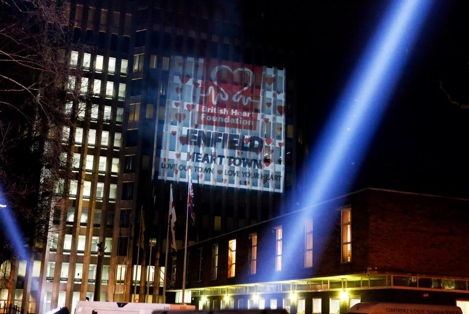 Building Projection for Heart Foundation & Enfield Council
