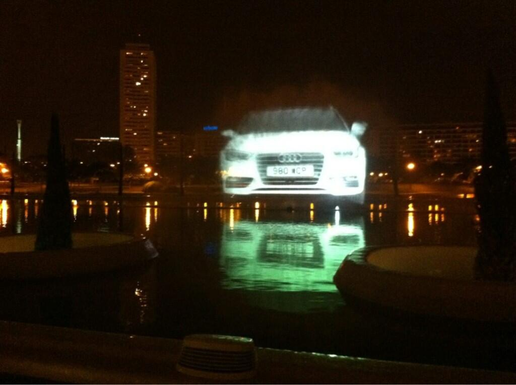 Audi Water screen projection