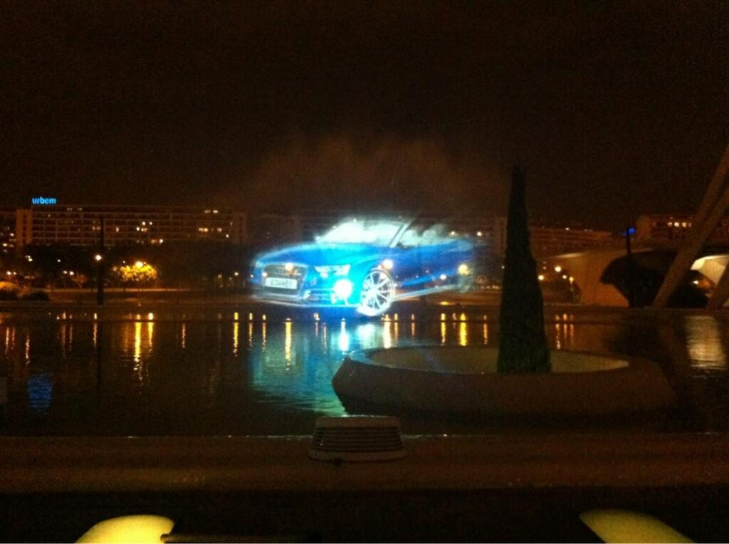 Audi Waterscreen projection show event