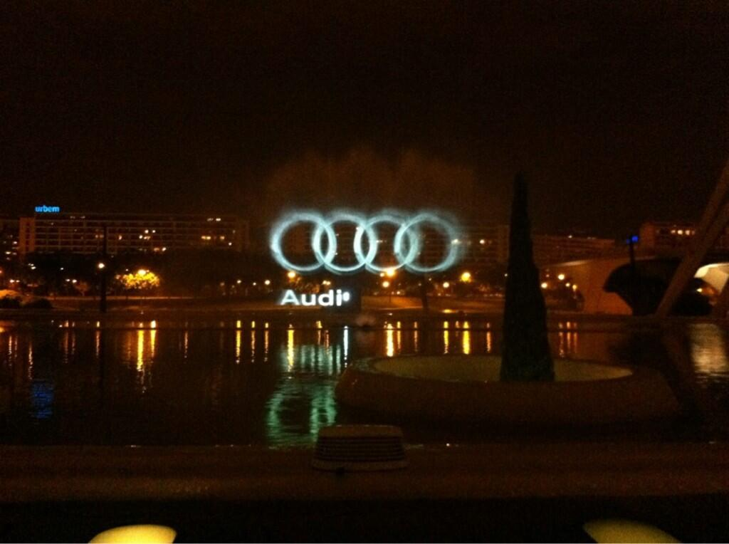 Audi Water screen projection show
