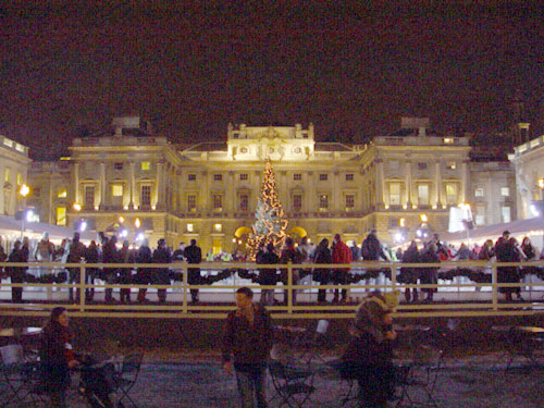 Flame Torches at Somerset House Ice Rink