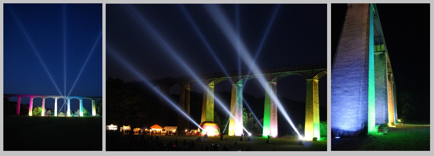 Searchlight Show at Pontcysyllte Aqueduct