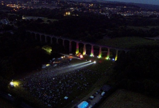 Pontcysyllte Aqueduct Searchlight Show