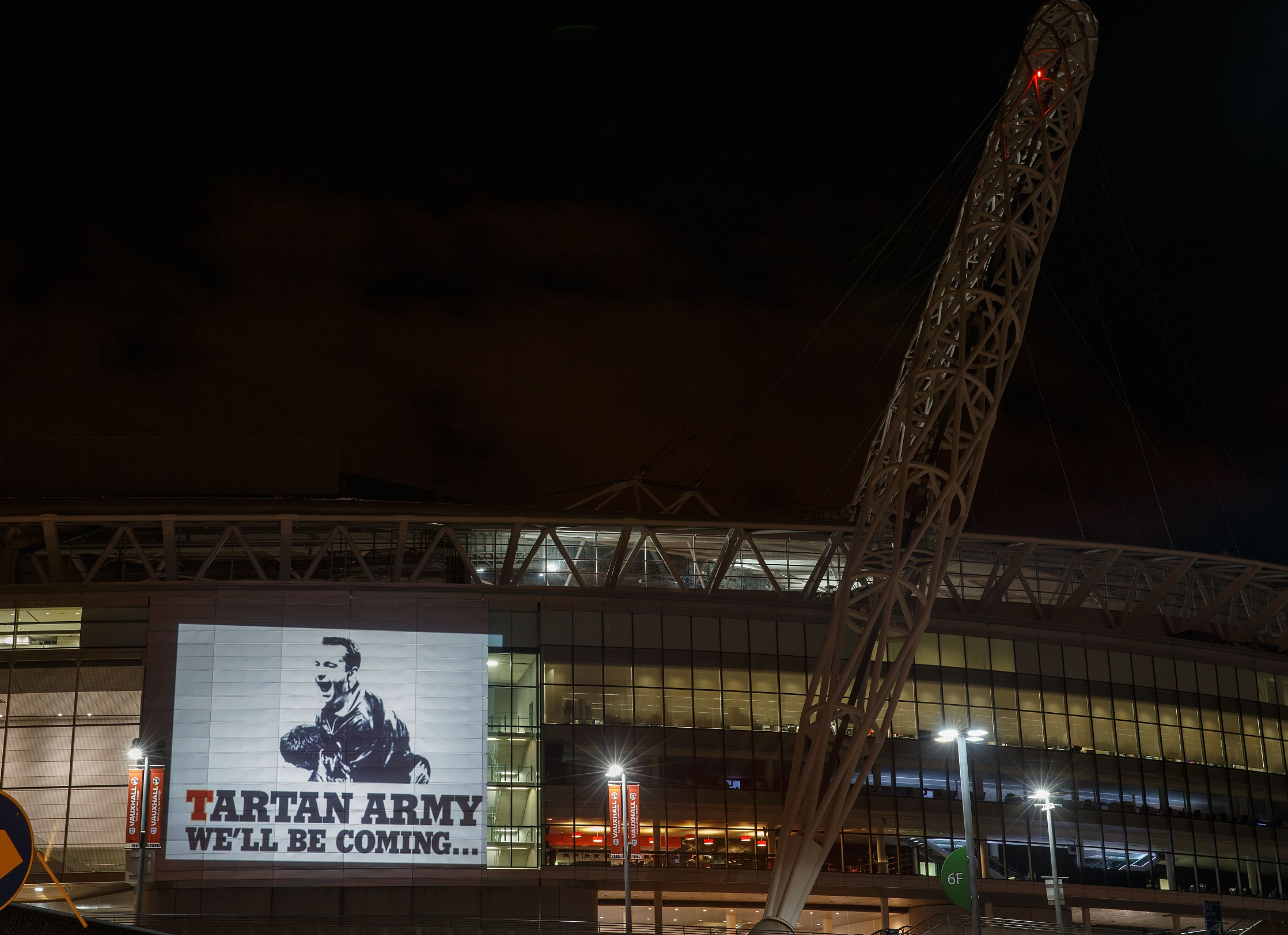 Tartan Army Projection at Wembley Stadium