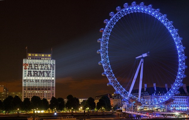Tennent's Tartan Army Projection Campaign London Eye