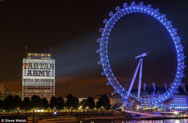 London Eye Building Projection
