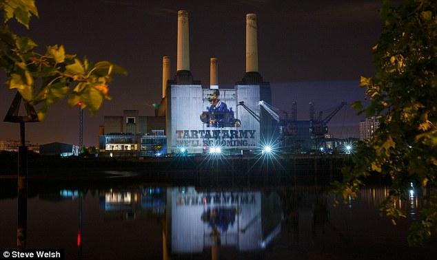 Battersea Power Station Building Projection