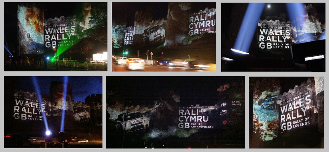 CONWY CASTLE WRGB PROJECTIONS 2013
