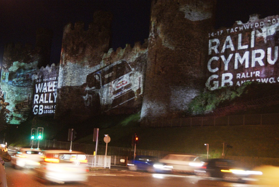 WRGB PROJECTIONS AT CONWY CASTLE