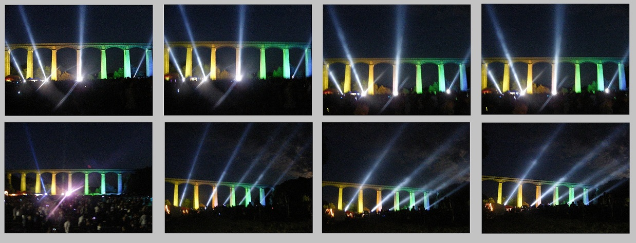 Searchlights at Pontcysyllte Aqueduct