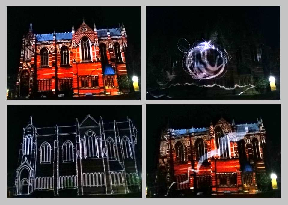 Keble Ball Video Mapping Oxford projection