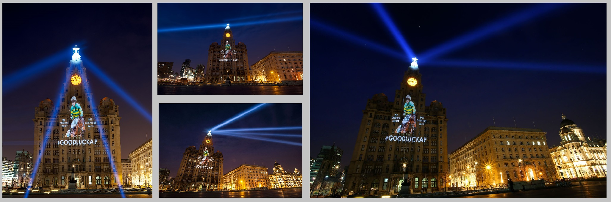 Liverpool Projections onto Liver Building