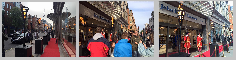Red Carpet & Gas Flambes for John Bell & Croyden launch