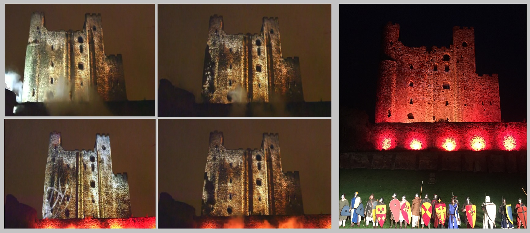 Rochester Castle Siege Projection