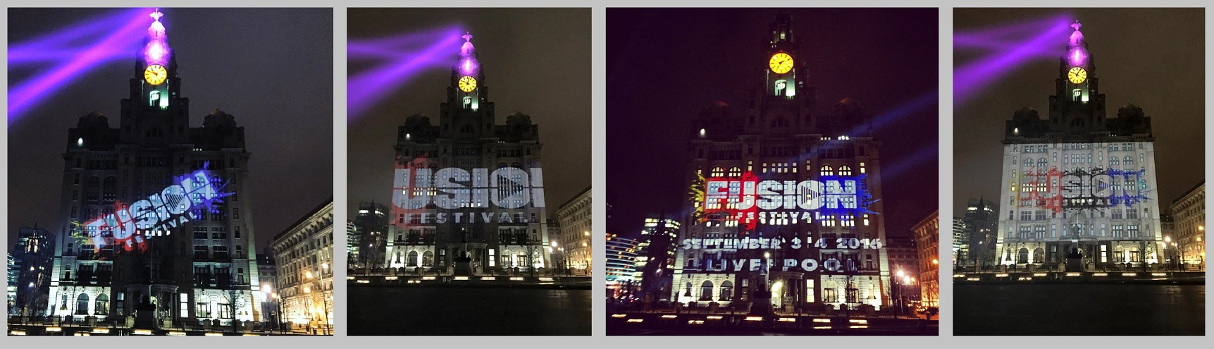 FUSION FESTIVAL PROJECTION LIVER BUILDING
