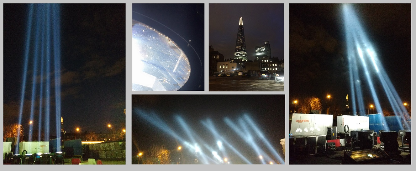 Searchlights over London