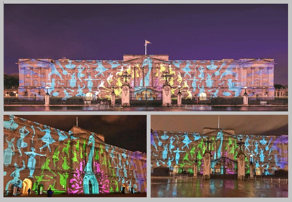 Buckingham Palace Peacock Projections for Indian Cultural Event