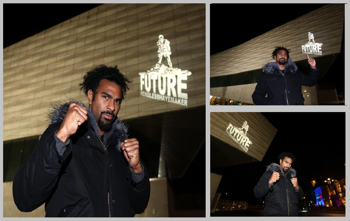 David Haye projection Liverpool Museum