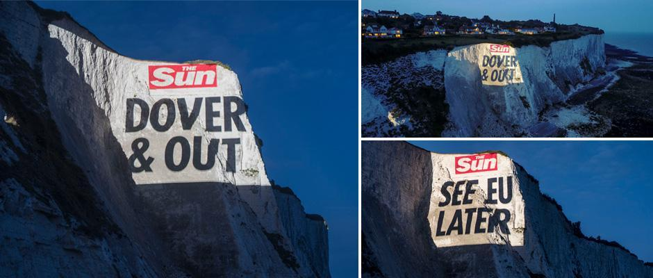 Projection onto White Cliffs of Dover