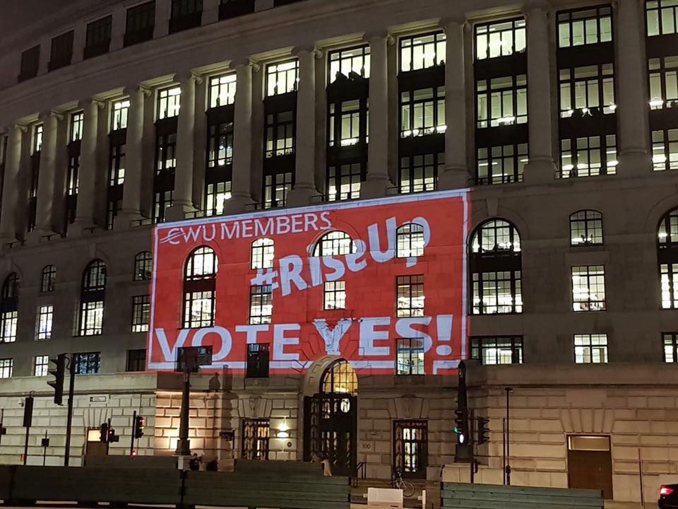CWU Building projection, London