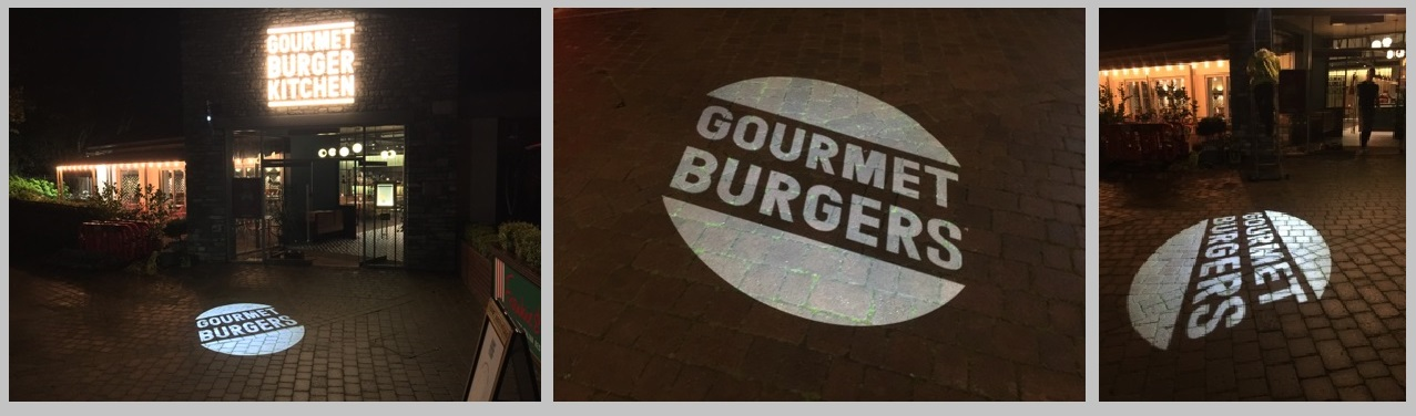 Gourmet burger projections