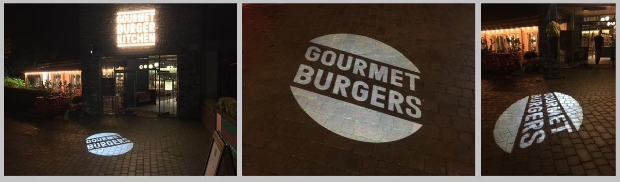 Gourmet burger projections