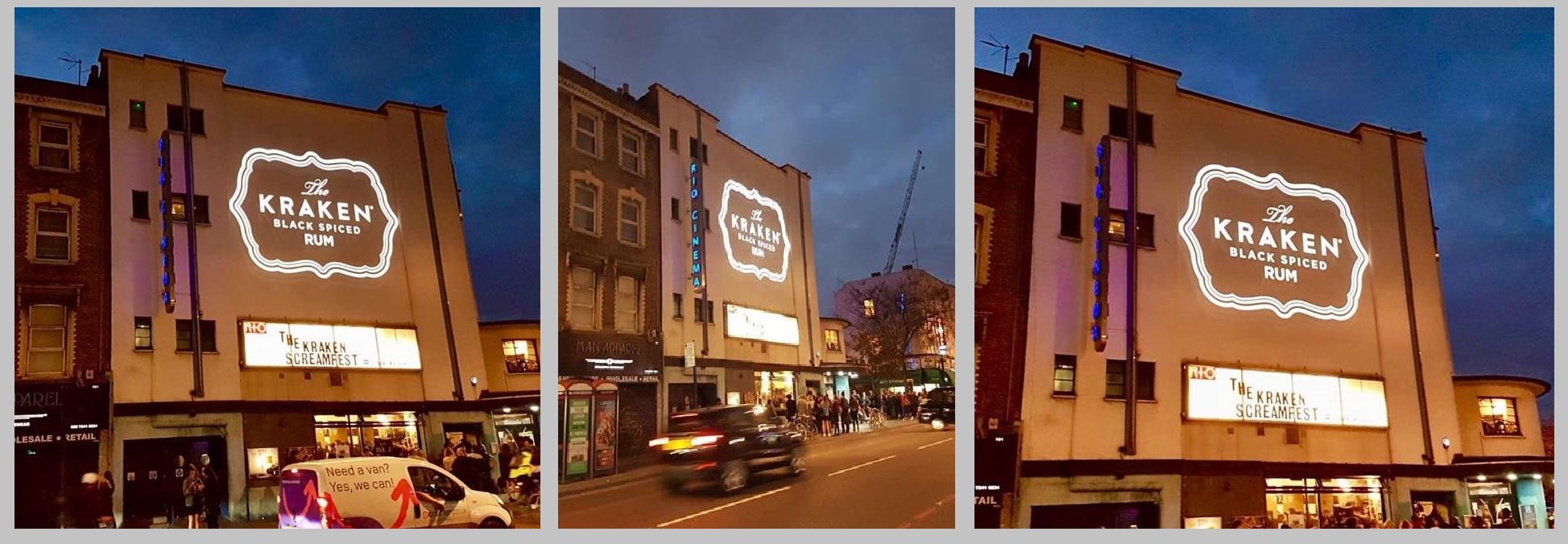 Kraken Screamfest projection, London