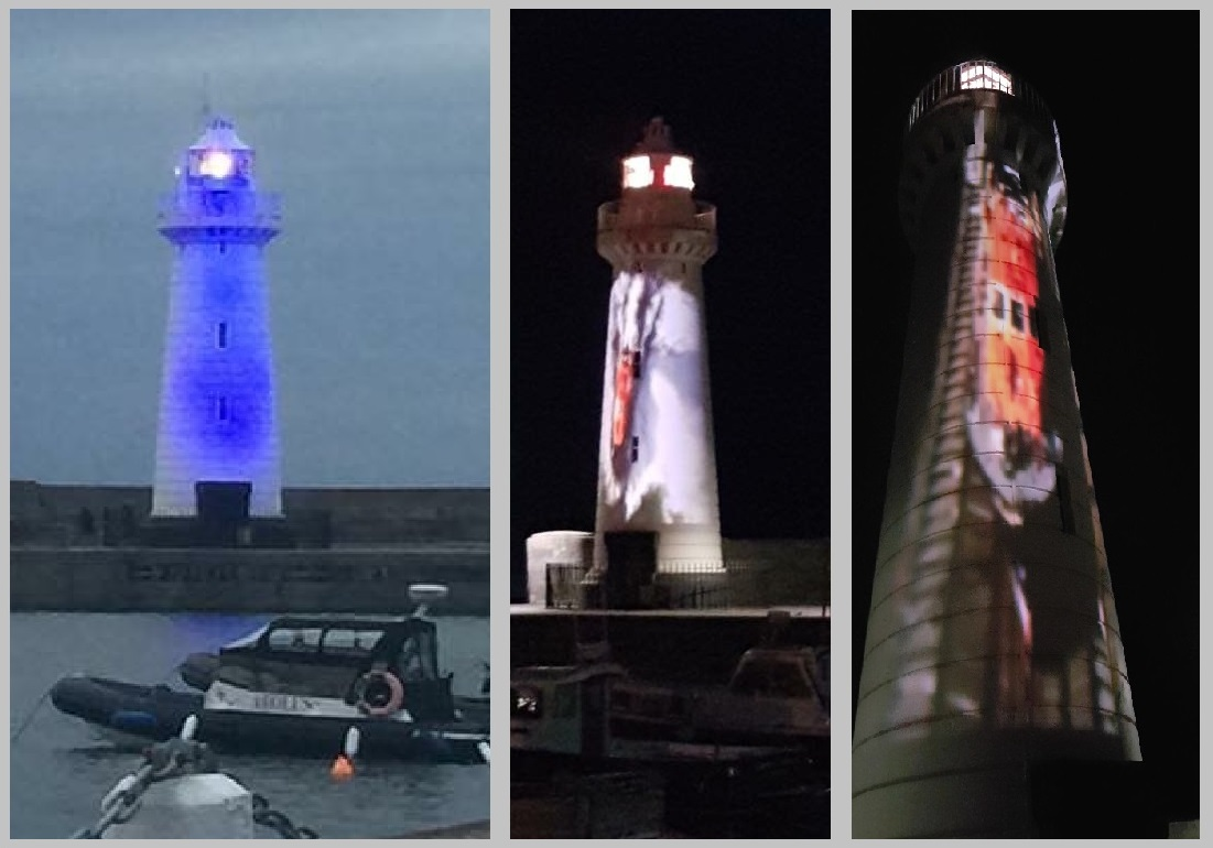 RNLI Lighthouse projections Northern Ireland