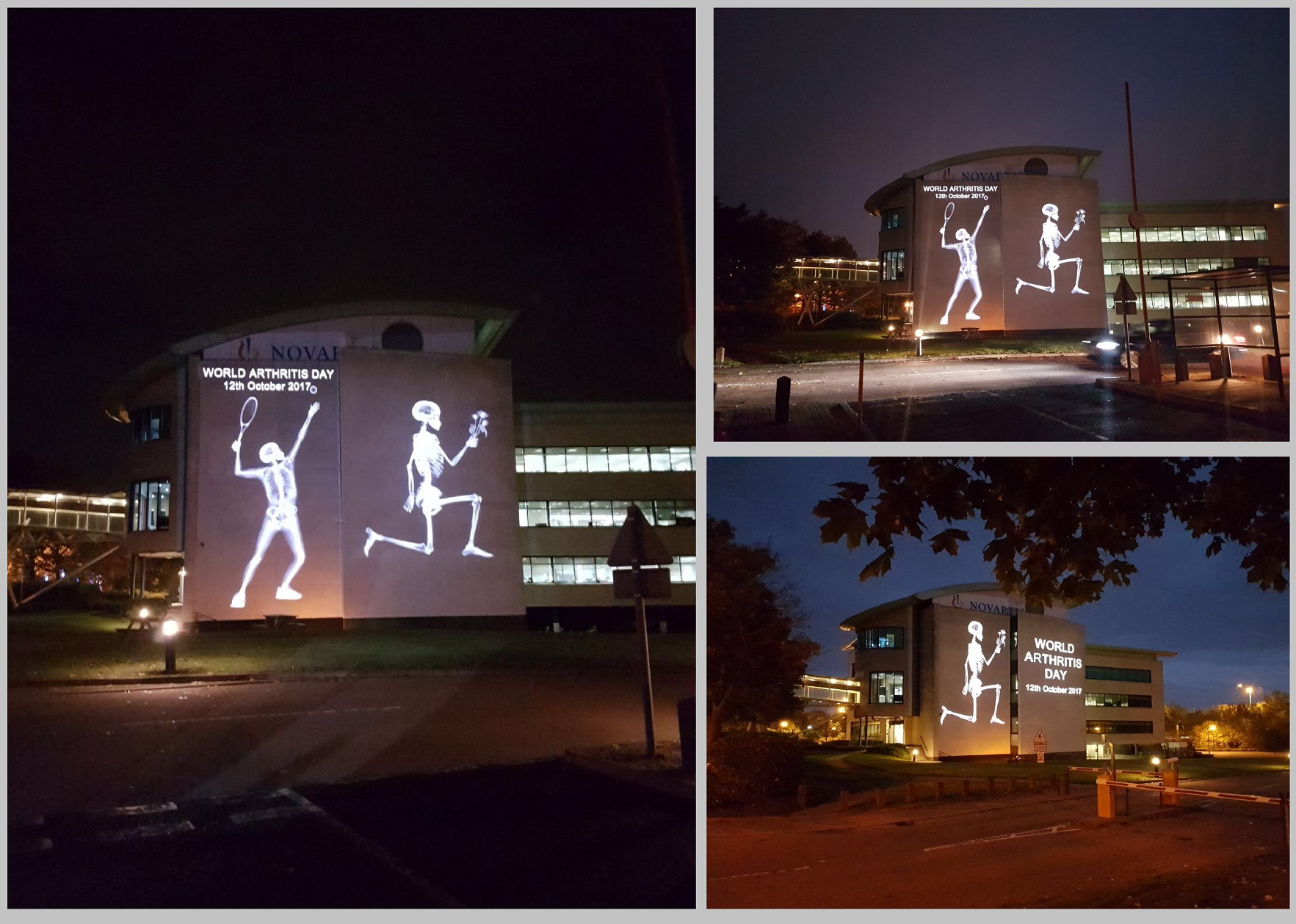 World Arthritis day building projections